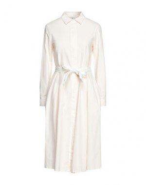 Платье длиной 3/4 EUROPEAN CULTURE. Цвет: слоновая кость