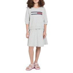 Платье KG0KG04494 серый TOMMY HILFIGER