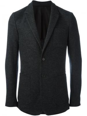 Блейзер с накладными карманами Ami Alexandre Mattiussi. Цвет: серый