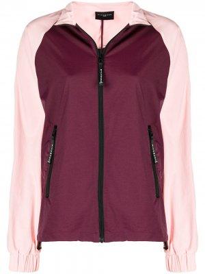 Куртка в стиле колор-блок John Richmond. Цвет: фиолетовый