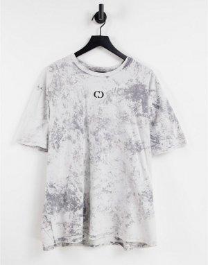 Серая выбеленная футболка с принтом херувима от комплекта -Серый Criminal Damage