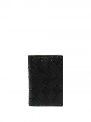 Картхолдер с плетением Intrecciato Bottega Veneta. Цвет: черный