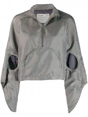 Анорак с капюшоном и вырезными деталями A-COLD-WALL*. Цвет: серый