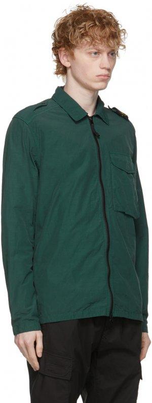 Green Nylon Zip Jacket Stone Island. Цвет: v0057 petrol
