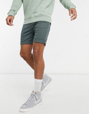 Джинсовые шорты цвета чайного дерева Goodstock-Зеленый Globe