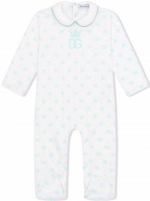 Комплект для новорожденного с логотипом DG Dolce & Gabbana Kids. Цвет: белый