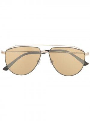Солнцезащитные очки-авиаторы Lexs Jimmy Choo Eyewear. Цвет: золотистый