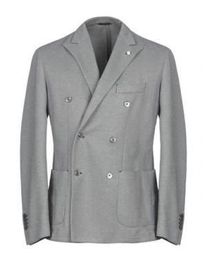 Пиджак LUIGI BIANCHI ROUGH. Цвет: стальной серый