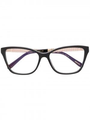 Солнцезащитные очки с кристаллами Chopard Eyewear. Цвет: черный