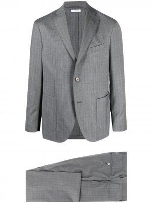 Однобортный пиджак Boglioli. Цвет: серый