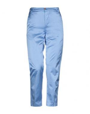 Повседневные брюки TRUE TRADITION. Цвет: лазурный