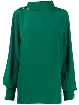 Блузка с разрезами на рукавах Christopher Kane. Цвет: зеленый