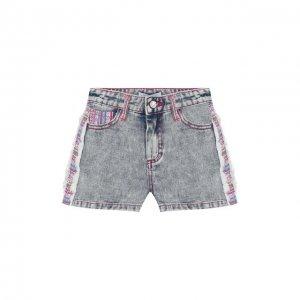Джинсовые шорты Yudashkin Kids. Цвет: синий