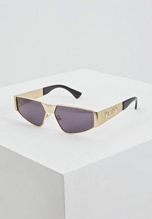 Очки солнцезащитные Moschino MOS037/S 2F7. Цвет: золотой