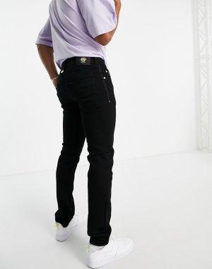 Черные зауженные джинсы -Черный цвет Versace Jeans Couture