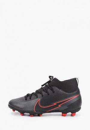 Бутсы Nike JR SUPERFLY 7 CLUB FG/MG. Цвет: черный