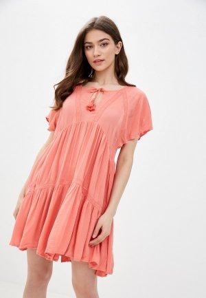Платье Rip Curl SWEET MORNINGS DRESS. Цвет: розовый