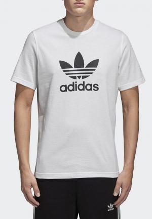 Футболка adidas Originals TREFOIL T-SHIRT. Цвет: белый