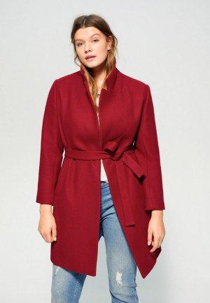 Пальто Violeta by Mango - CLUSO. Цвет: красный