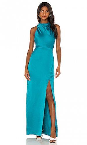 Платье yara Parker Black. Цвет: сине-зеленый