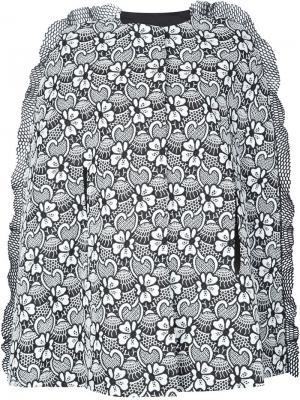 Embroidered cape coat Emanuel Ungaro. Цвет: чёрный
