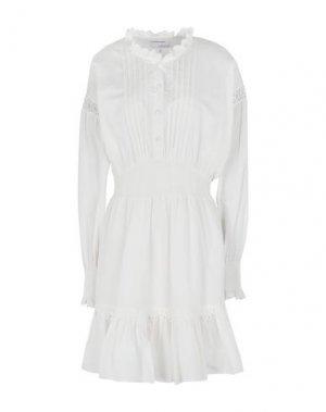Короткое платье DESIGNERS, REMIX. Цвет: белый