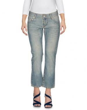 Джинсовые брюки-капри DKNY JEANS. Цвет: синий