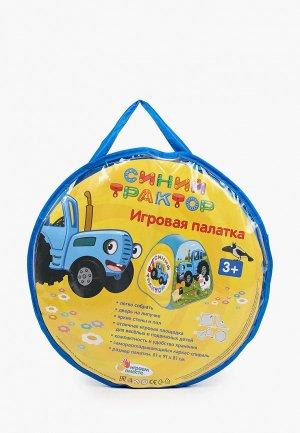 Палатка Играем Вместе «Синий трактор», 81х91х81 см. Цвет: разноцветный