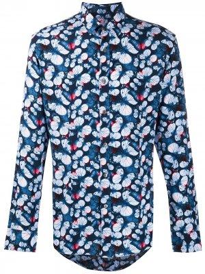 Рубашка с длинными рукавами и принтом Grey Daniele Alessandrini. Цвет: синий