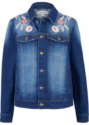 Куртка джинсовая от Maite Kelly bonprix. Цвет: синий
