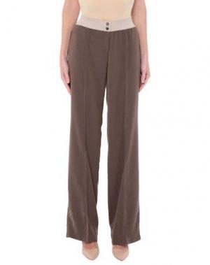 Повседневные брюки IRMA BIGNAMI. Цвет: хаки