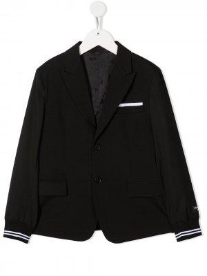 Пиджак с эластичными манжетами Neil Barrett Kids. Цвет: черный
