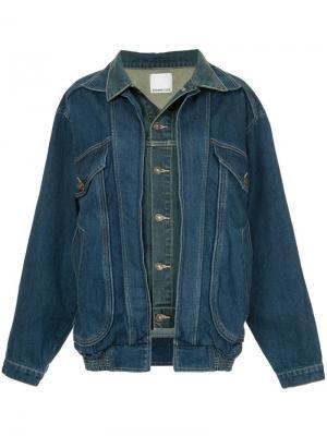 Джинсовая куртка модели оверсайз Ground Zero