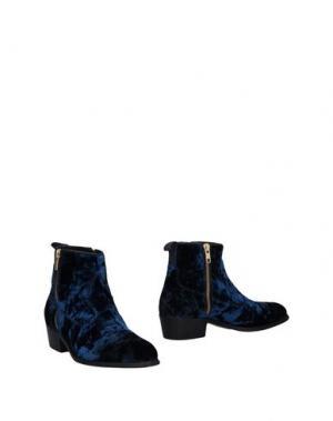 Полусапоги и высокие ботинки ALEXANDER HOTTO. Цвет: темно-синий