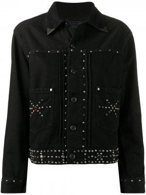 Джинсовая куртка с заклепками Polo Ralph Lauren. Цвет: черный