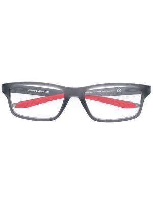 Очки в тонкой оправе Oakley. Цвет: серый