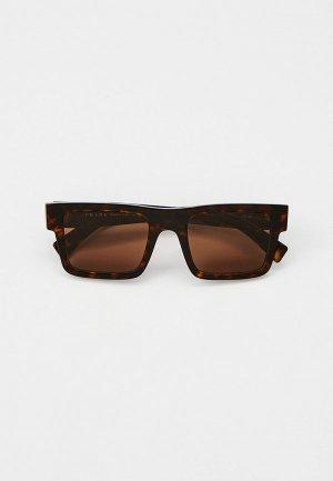 Очки солнцезащитные Prada PR 19WS 2AU8C1. Цвет: коралловый