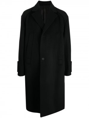 Однобортное пальто Wooyoungmi. Цвет: черный
