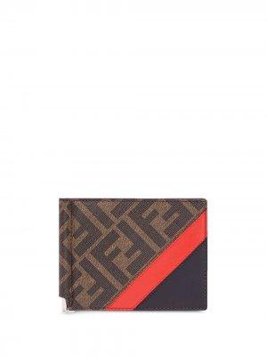 Бумажник с монограммой FF Fendi. Цвет: коричневый