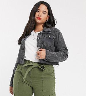 Короткая джинсовая куртка -Черный Urban Bliss Plus