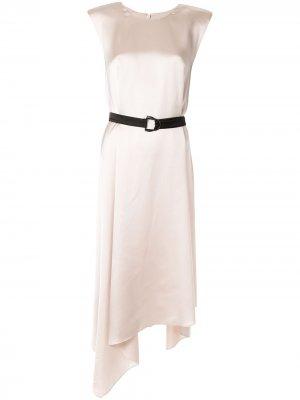 Платье Clementine асимметричного кроя CAMILLA AND MARC. Цвет: коричневый