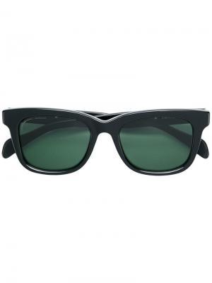 Солнцезащитные очки в квадратной оправе Visvim. Цвет: черный