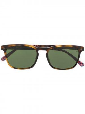 Солнцезащитные очки Kitsilano в квадратной оправе Etnia Barcelona. Цвет: коричневый