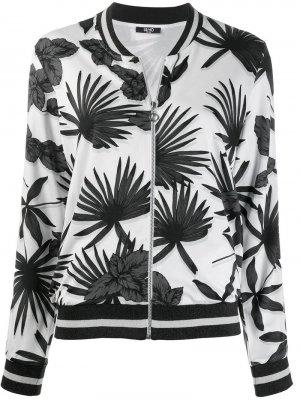 Куртка-бомбер с цветочным принтом Liu Jo. Цвет: черный