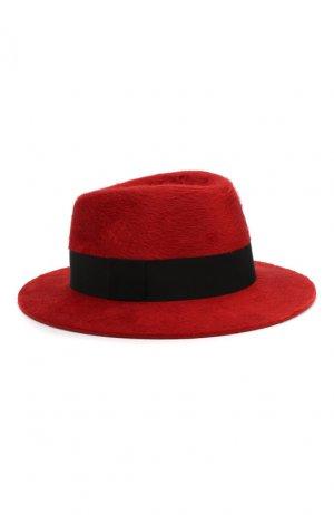 Фетровая шляпа Saint Laurent. Цвет: красный