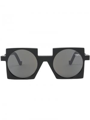 Солнцезащитные очки с квадратной оправой Vava. Цвет: чёрный