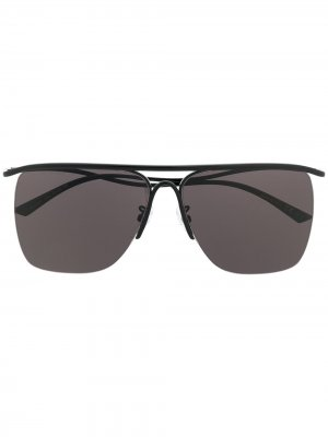 Curve navigator-frame sunglasses Balenciaga Eyewear. Цвет: черный