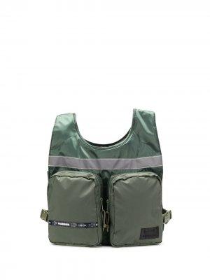 Жилет-сумка NBHD из коллаборации с Neighborhood Eastpak. Цвет: зеленый