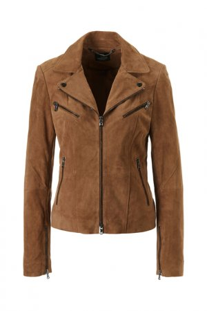 Куртка кожаная Madeleine. Цвет: marone