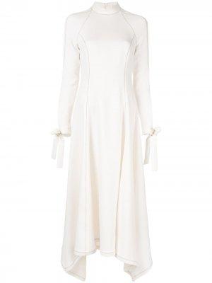Креповое платье миди Rae CAMILLA AND MARC. Цвет: белый